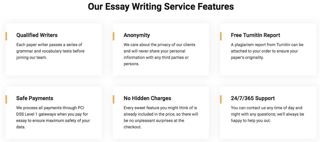 EssayPro features